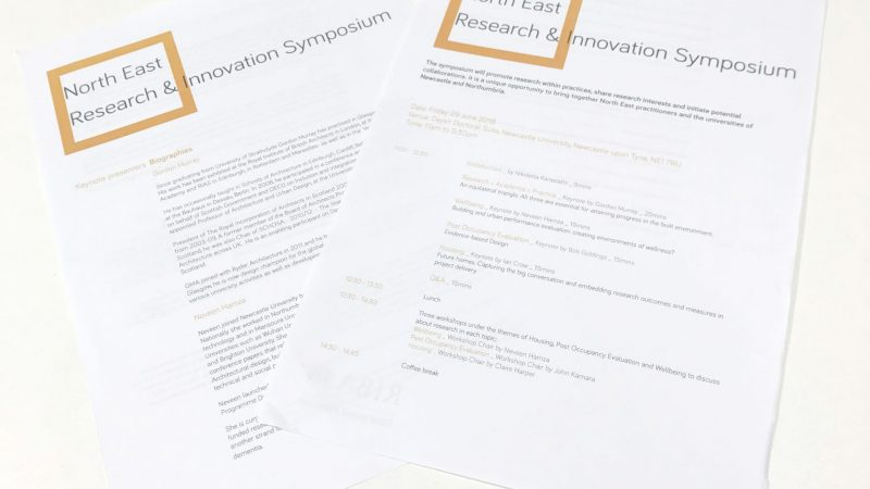 SBA Attend Riba North East Research And Innovation Symposium
