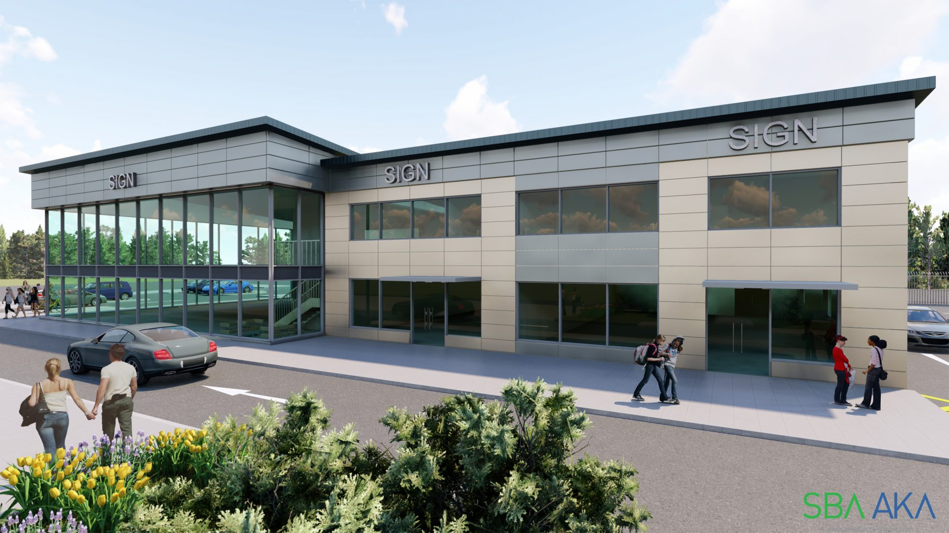SBA Unveil Plans For New Motorbike Showroom And Retail Units In Gateshead