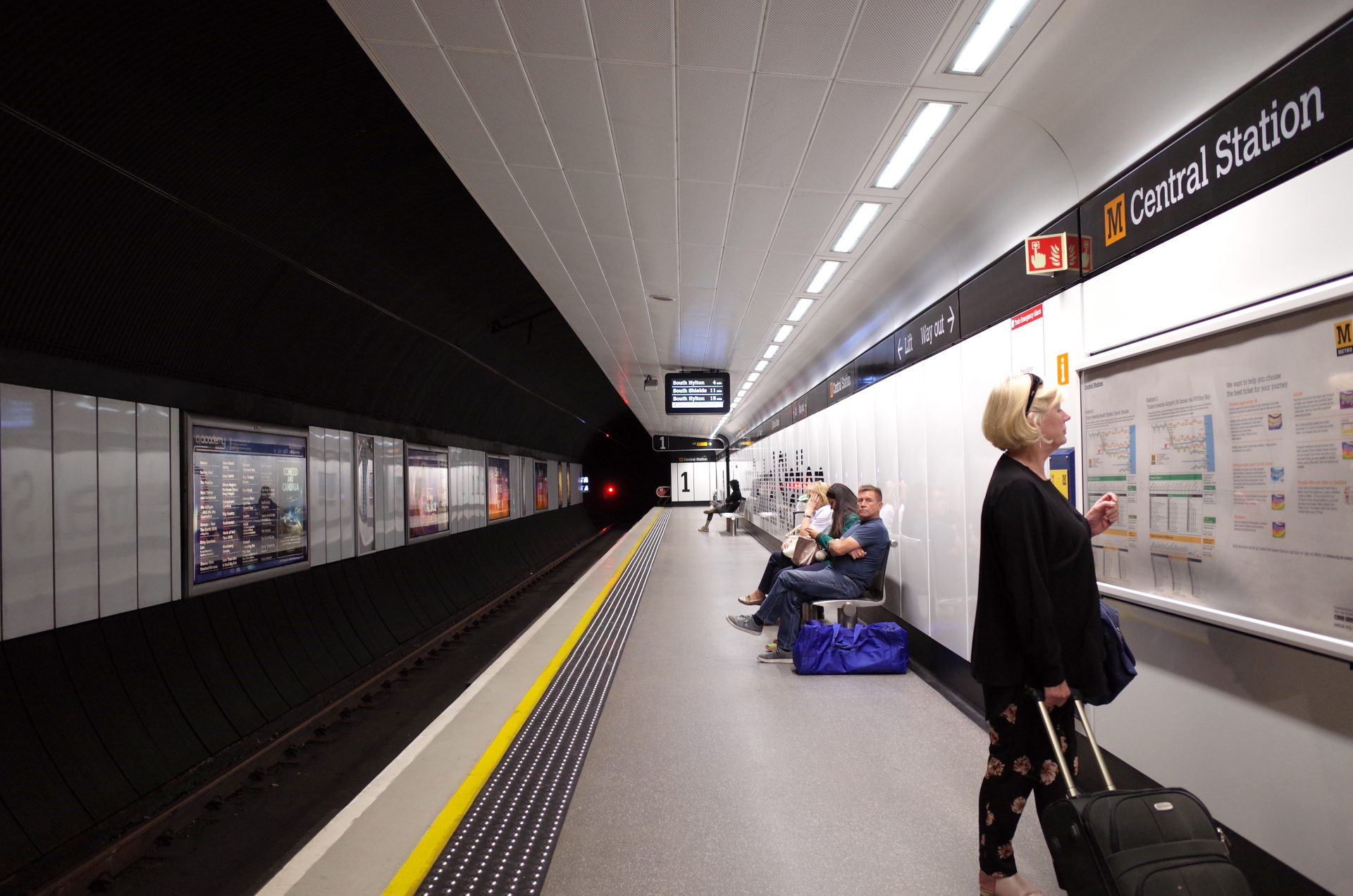 Newcastle Central Metro Station