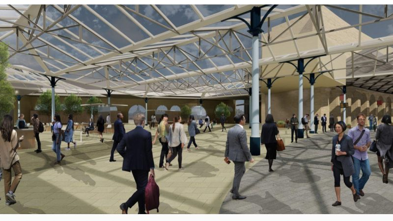 Sadler Brown's detailed designs start taking shape on site…